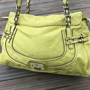 Guess Women Hand Bag Citron Green Neeka Shoulder B
